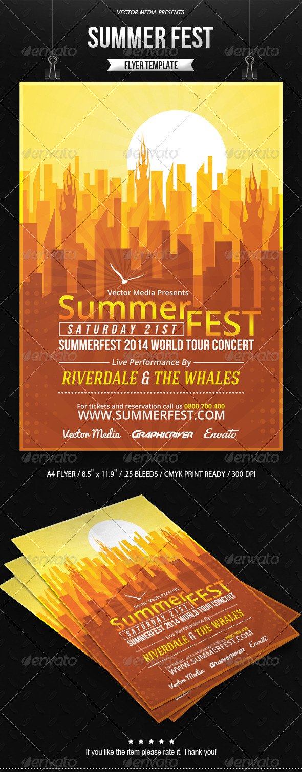 GraphicRiver Summer Fest Flyer 8027985