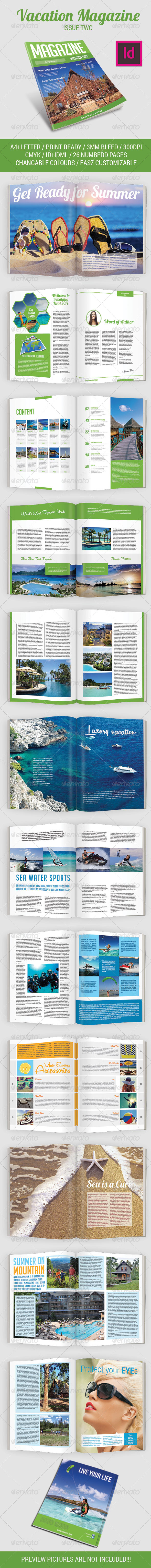 Vacation Magazine Template Issue Two