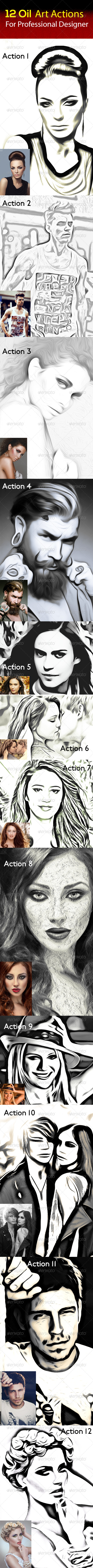 GraphicRiver 12 Oil Art Actions Vol 3 8028382