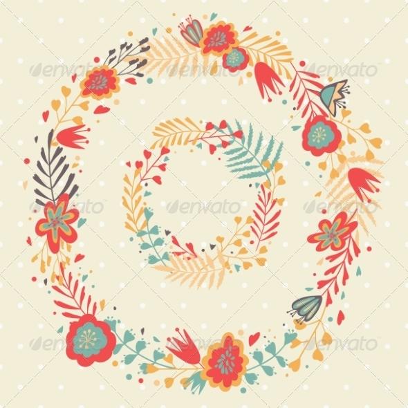 GraphicRiver Floral Frame 8028384