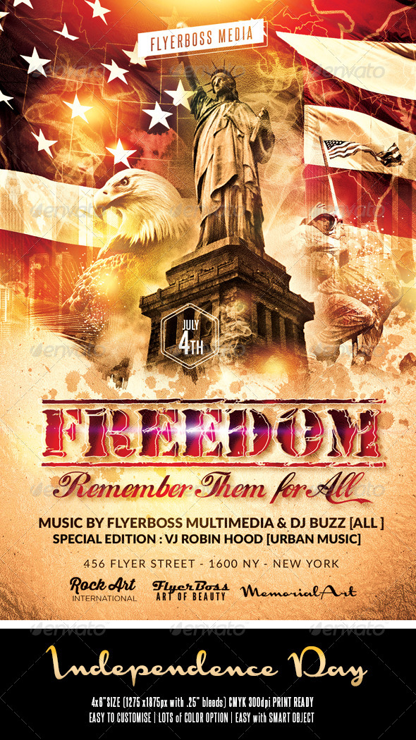 GraphicRiver Independence Day Flyer 2 8028526