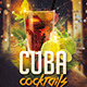 Cuba Libre Cocktail Flyer Template - GraphicRiver Item for Sale