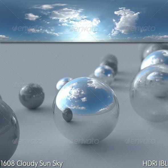 3DOcean HDRI IBL 1608 Cloudy Sun 8028632