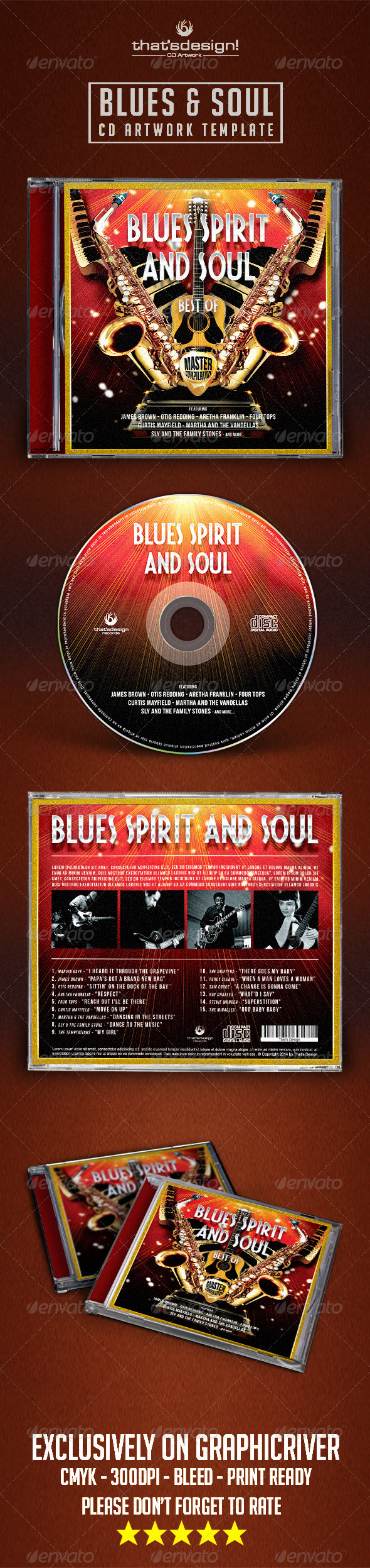 GraphicRiver Blues and Soul CD Artwork Template 8028650