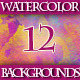 Set of Beautiful Colorful Watercolor Backgrounds