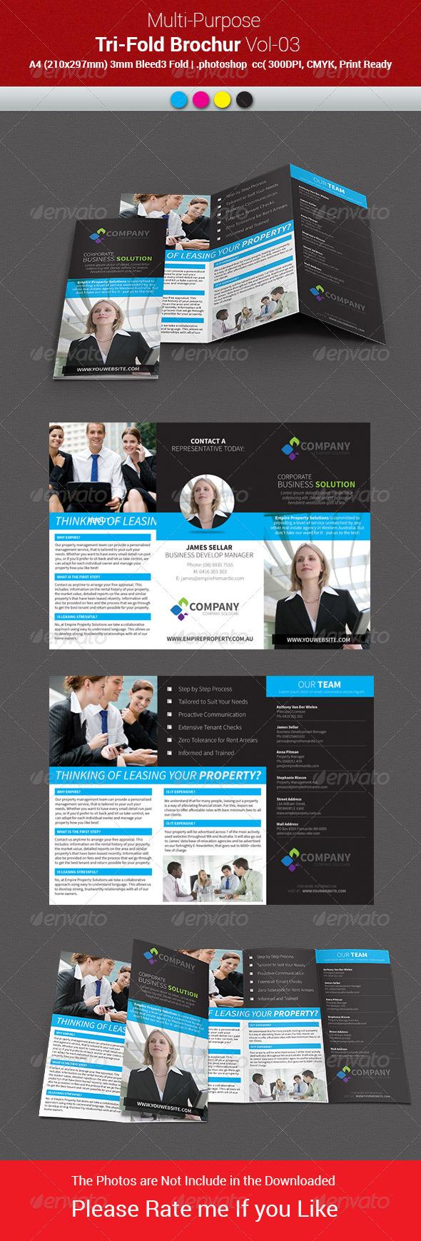 GraphicRiver Multipurpose Business Tri-Fold Brochure Vol-03 8008561