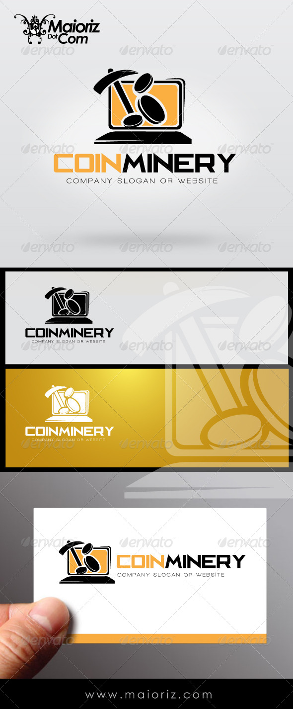 Coins Minery Logo Template - Objects Logo Templates