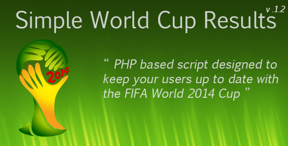 CodeCanyon Simple World Cup Results 8008811