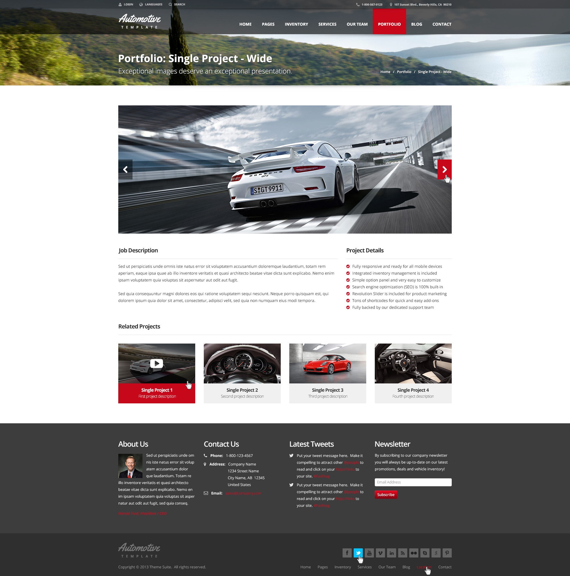 automotive car dealership business html template by