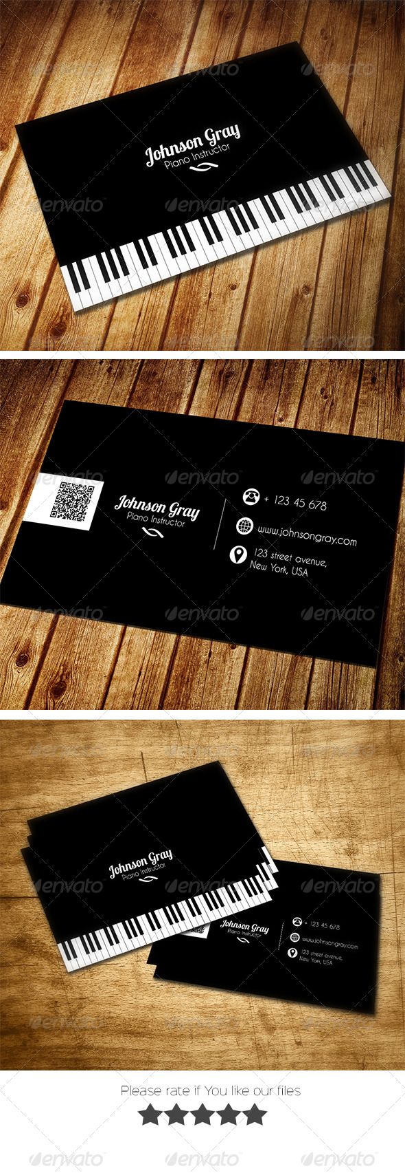 GraphicRiver Musician Business Card 8030356