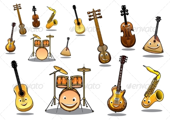 GraphicRiver Cartoon Instruments 8030819
