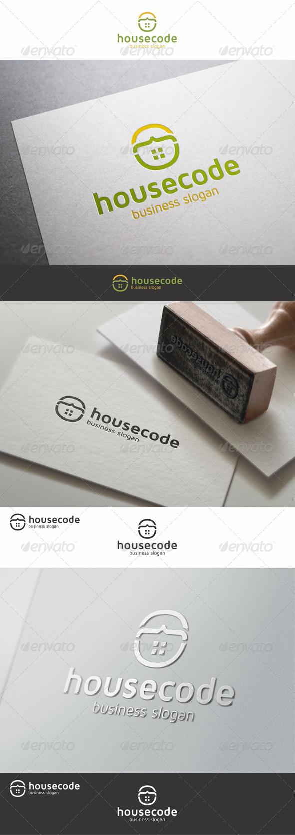 GraphicRiver House Code Building Logo 8030968