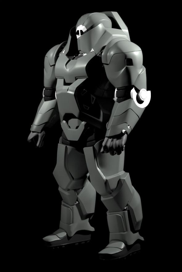 3DOcean Hard Surface Character Sci-fi 8031105
