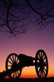 War Memorial Wheeled Cannon Military Civil War Weapon Dusk Sunset - PhotoDune Item for Sale