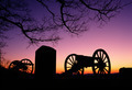 War Memorial Wheeled Cannon Military Civil War Weapon Dusk Sunset - PhotoDune Item for Sale