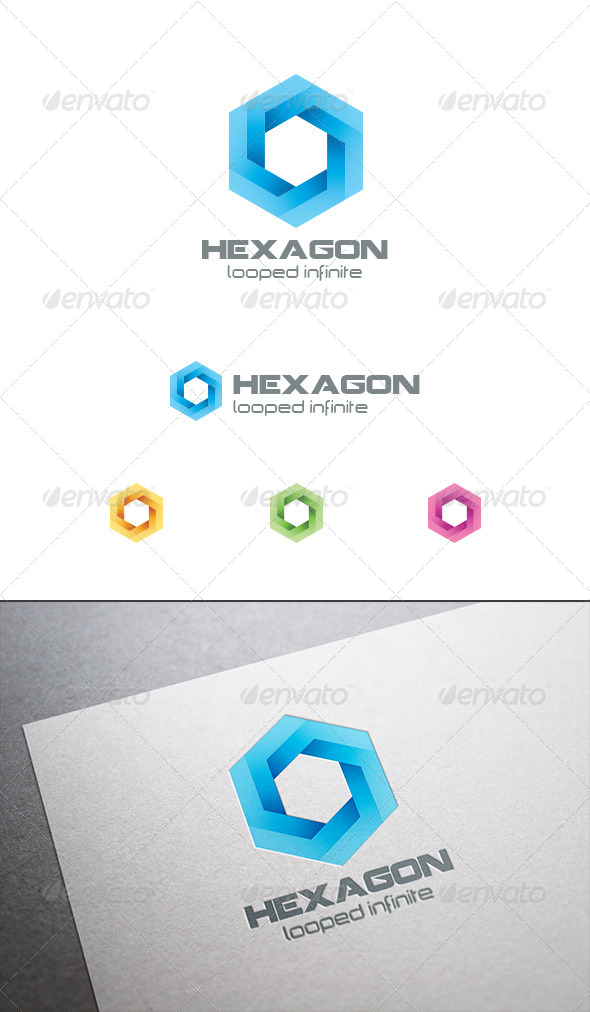 GraphicRiver Hexagon Infinite Looped Logo 8031124