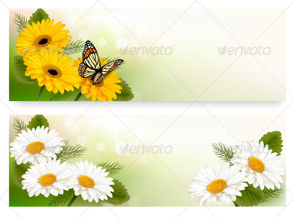 GraphicRiver Flower Banners 8031158