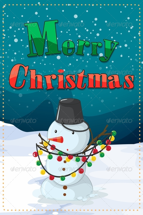GraphicRiver Christmas Card with Snowman 8031856