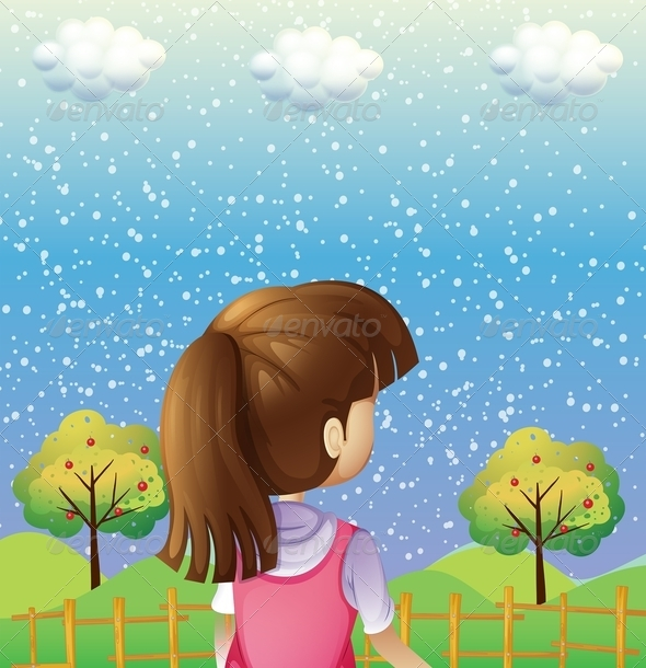GraphicRiver Girl Watching the Sky 8031877