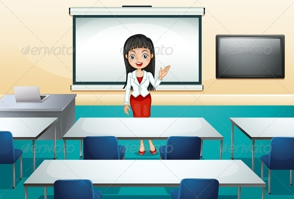 GraphicRiver Woman in Conference Room 8031898