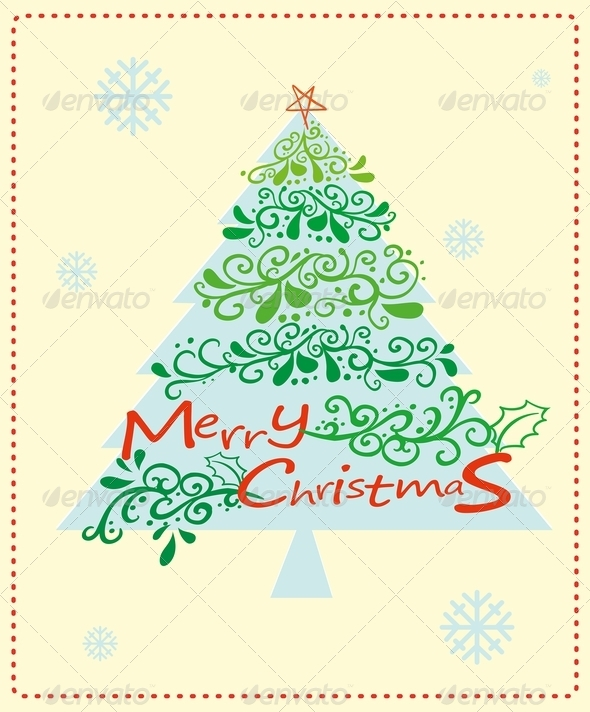 GraphicRiver Christmas Card with Tree 8031903