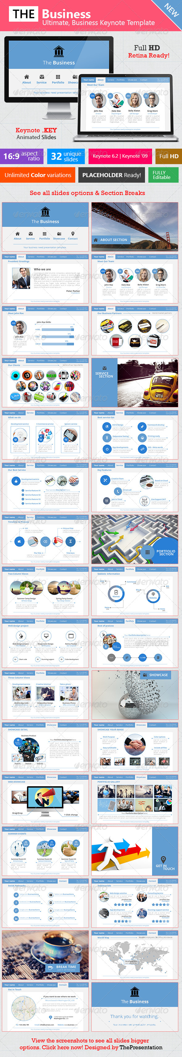 GraphicRiver The Business Ultimate Keynote Template 8008240