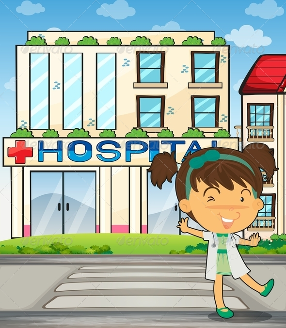 GraphicRiver Cute Doctor and Hospital 8032200