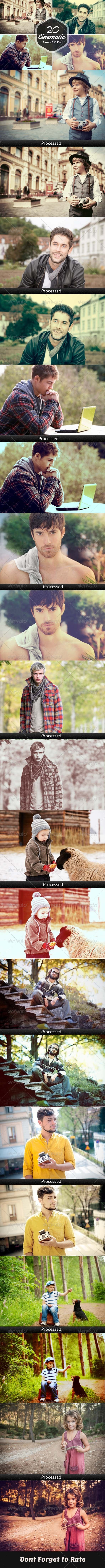 GraphicRiver 20 Cinematic Photoshop Actions Vol.3 8032227