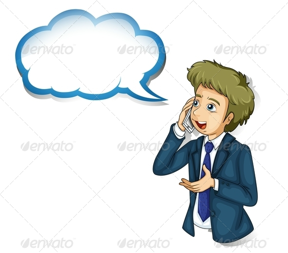 GraphicRiver Businessman Talking on Phone 8032229