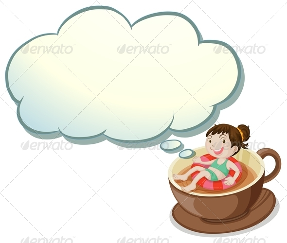 GraphicRiver Girl Floating in Coffee Cup 8032249