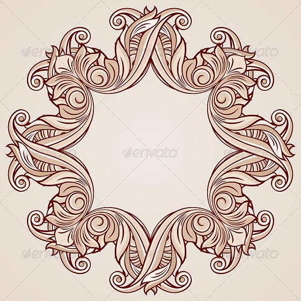 GraphicRiver Floral Frame 8032253