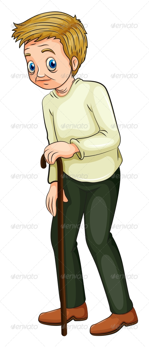 GraphicRiver Man with Walking Cane 8032283