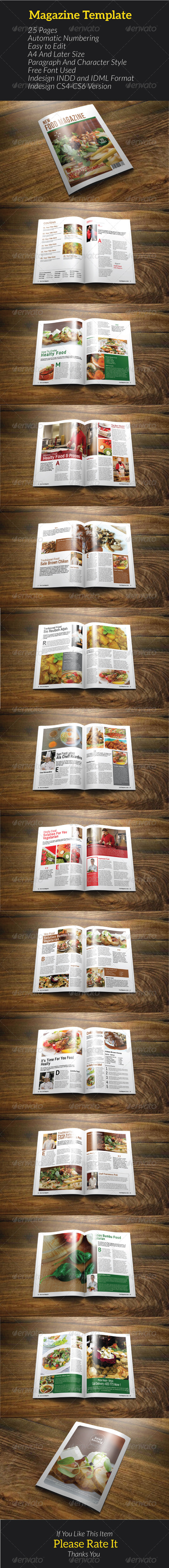 GraphicRiver Food Magazine 8003553