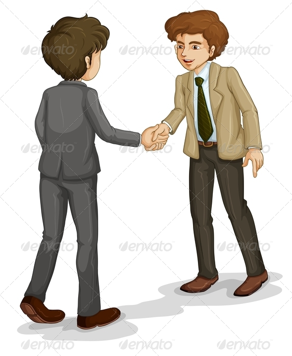 GraphicRiver Two Businessmen Shaking Hands 8032976