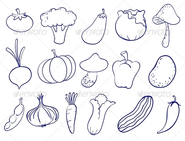 GraphicRiver Fruit and Veg Doodles 8033084