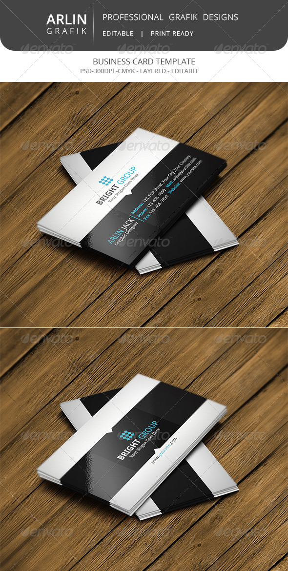 GraphicRiver Corporate business card 7989113