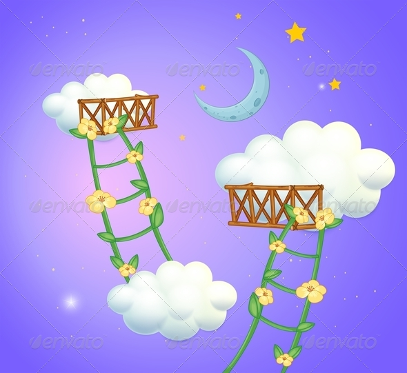 GraphicRiver Ladder Between Clouds 8033101