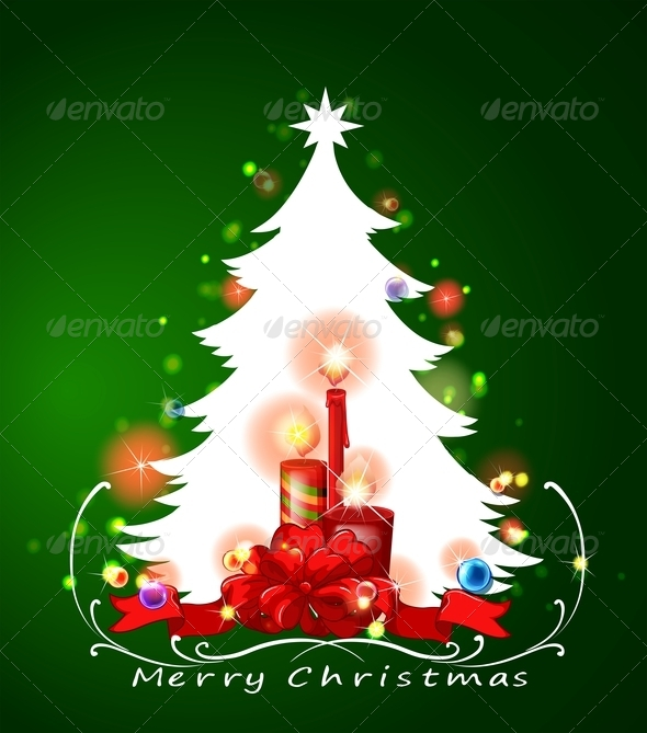 GraphicRiver White Christmas Tree 8033316