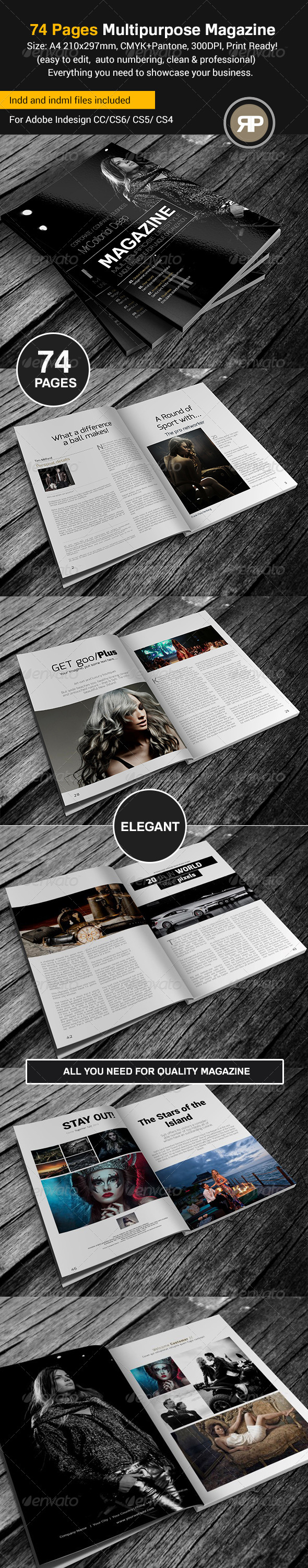 GraphicRiver 74 Pages Multipurpose Magazine Template 8003515
