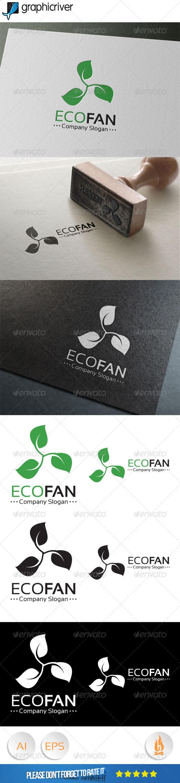 GraphicRiver Eco Fan Logo 8033418