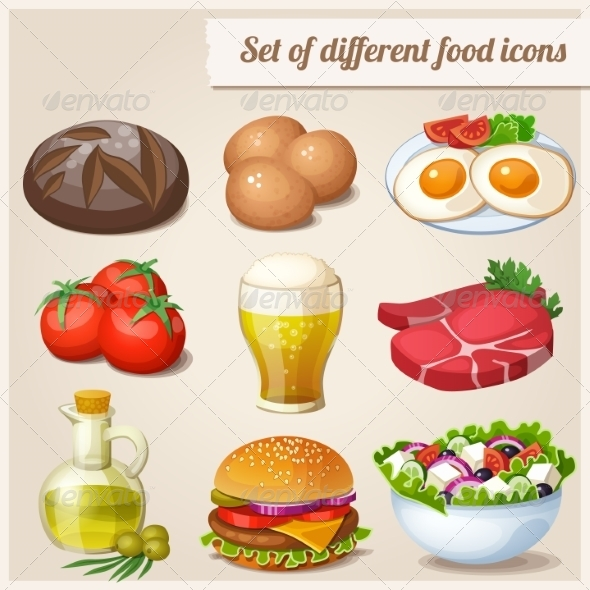 GraphicRiver Food Icons 8033487