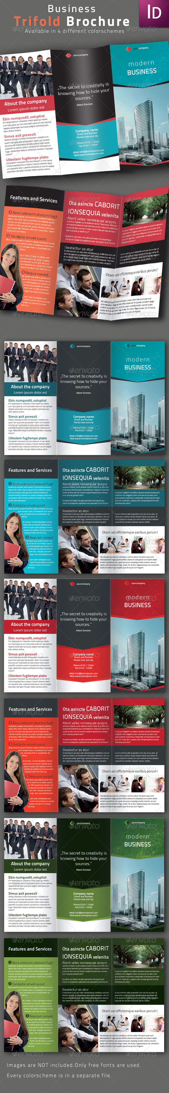 Business Trifold Brochure II - Corporate Brochures