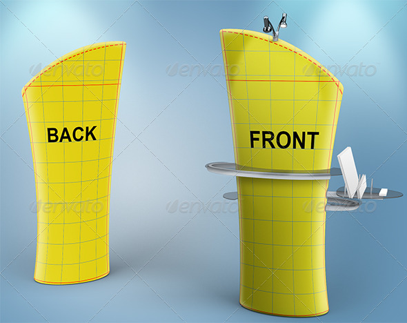 GraphicRiver Mock-up Brandcusi stand Angled Front 8033737