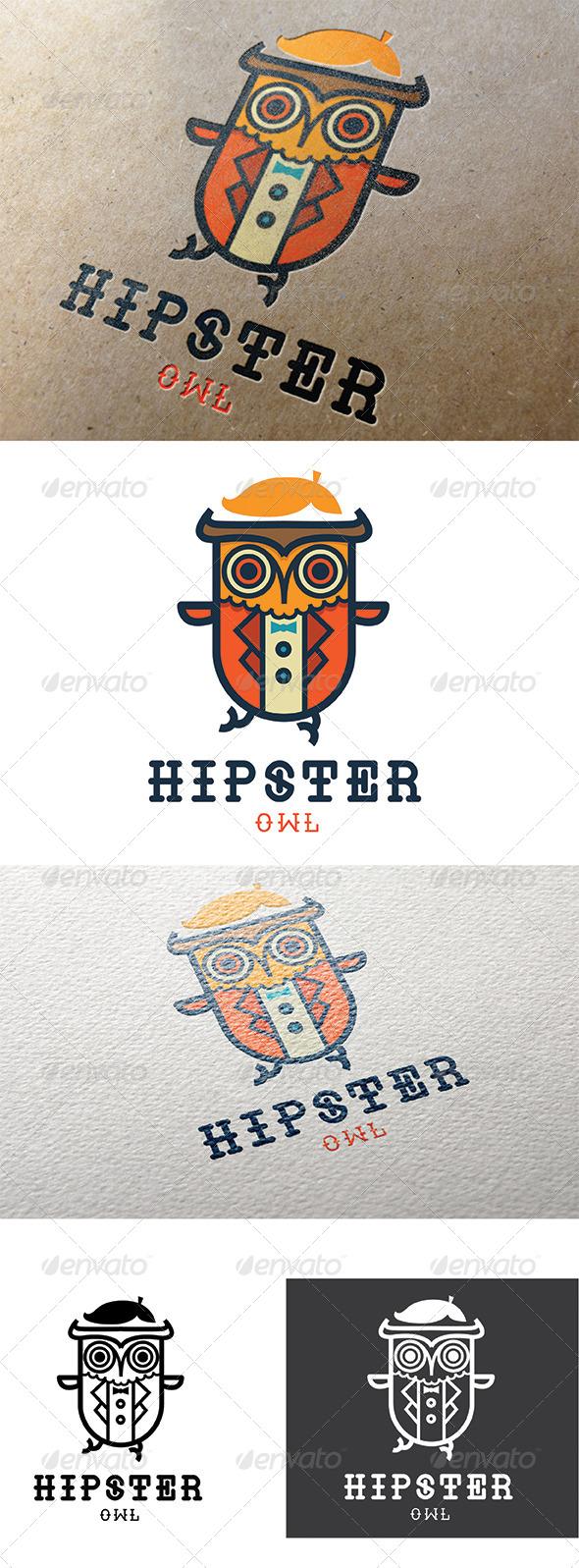 GraphicRiver Hipster Owl Logo 8034202