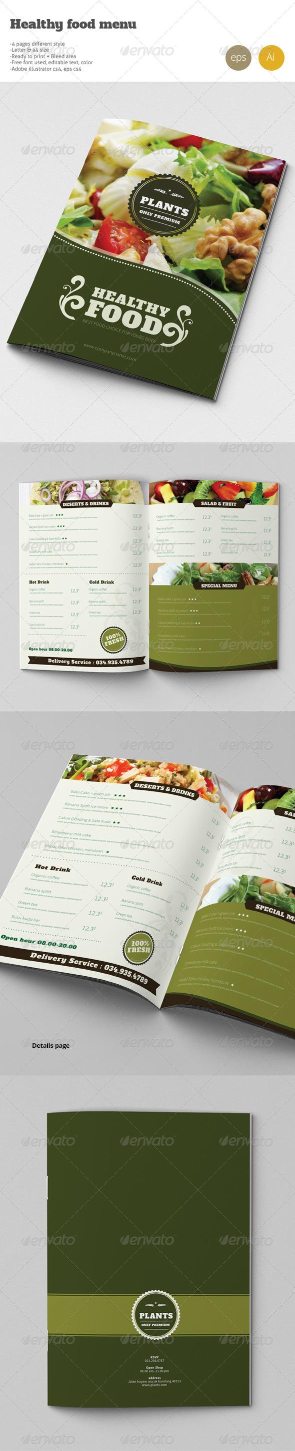 GraphicRiver Healty Restaurant Fresh Food Menu 8034627