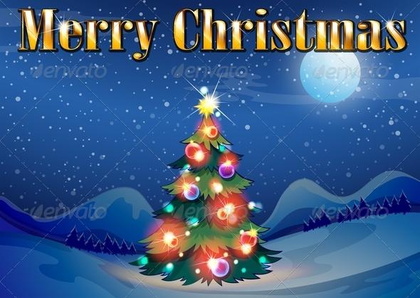 GraphicRiver Sparkling Christmas Tree 8035023