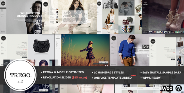 Trego - Fullscreen Multi-Purpose Wordpress Theme - WooCommerce eCommerce