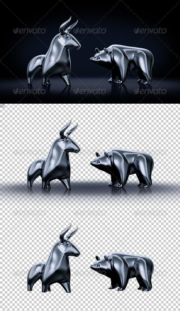 GraphicRiver Bull vs Bear 8008660