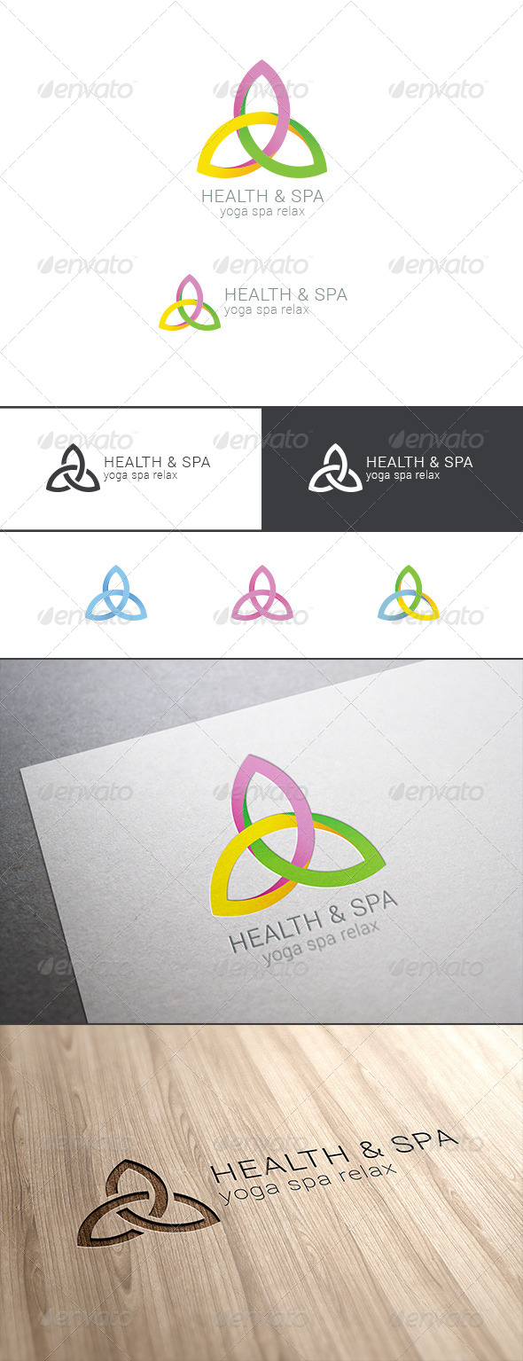GraphicRiver Spa Yoga Relax Logo Abstract 8021587