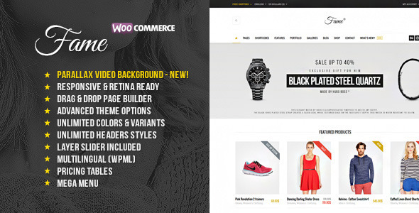 Fame - Responsive MultiPurpose WordPress Theme - Fashion Retail